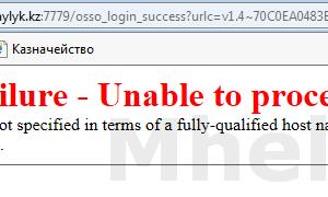 Ошибка Oracle SSO Failure — Unable to process request при попытке открыть Модуль отчетности в ИС Казначейство Клиент РК