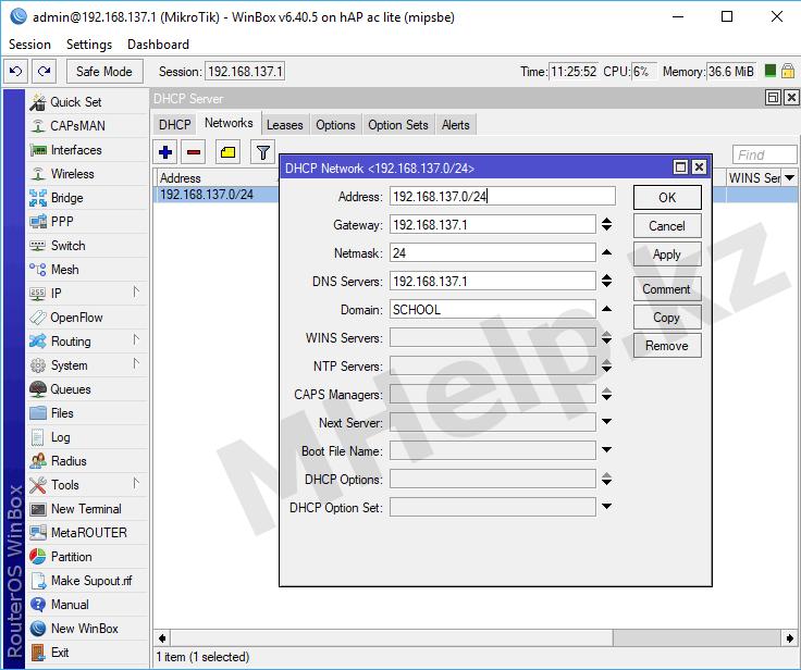 Настройка DHCP сервера на Mikrotik - MHelp.kz